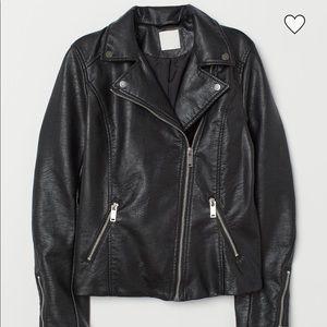 H&M: Faux Leather Biker Jacket